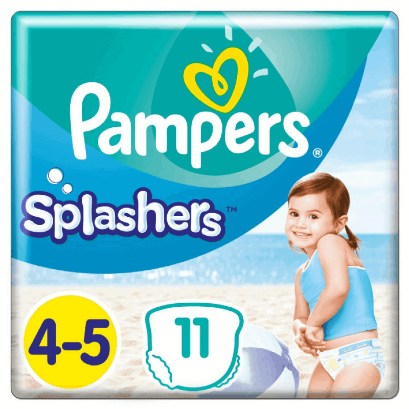 Pampers Splashers Couche de bain Taille 4-5 11 couches
