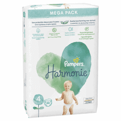 Pampers Harmonie Couche Taille 4 paquet de 66 couches
