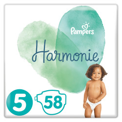 Pampers Harmonie Couche Taille 5 paquet de 58 couches