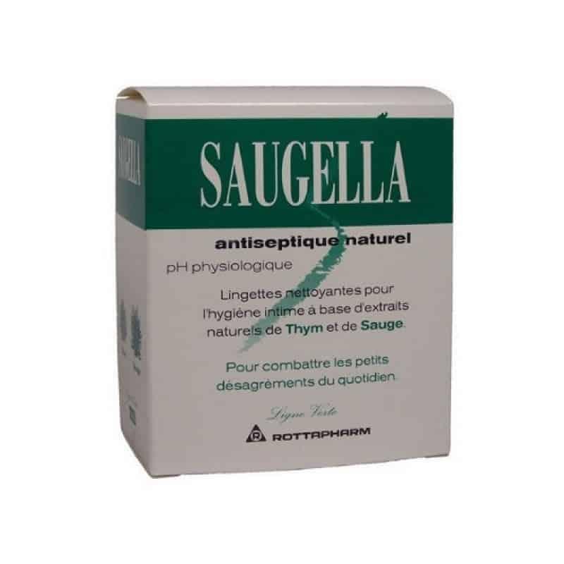 Saugella Lingettes Antiseptiques Boite de 10