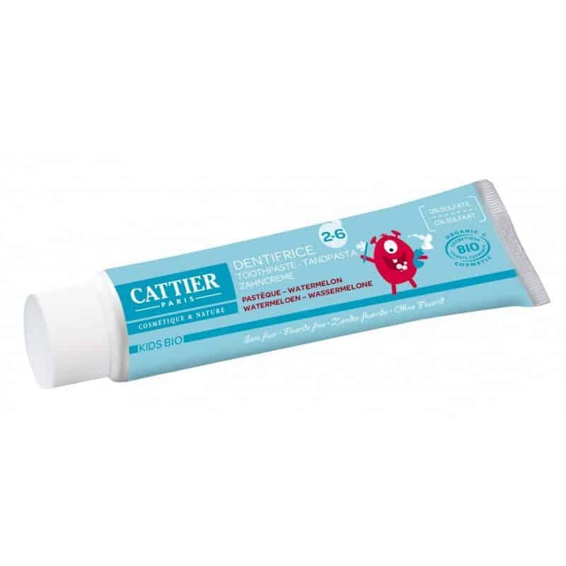 Cattier Dentifrice 7ans et plus Goût Pastèque 50ml