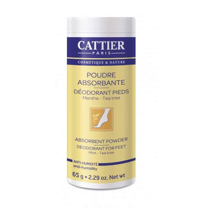 Cattier Poudre Absorbante Déodorant Pieds 65g