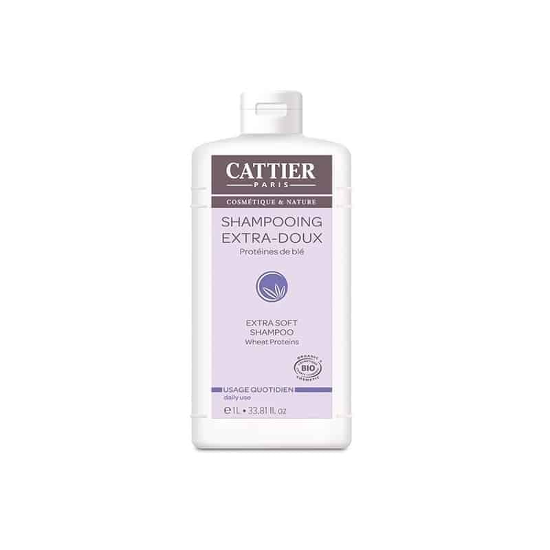 Cattier Shampooing Extra-Doux Usage Quotidien 1L